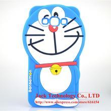 For Samsung Galaxy A8 Case Cute Japan 3D Cartoon Doraemon Phone Case Soft Silicone Rubber Cover Case