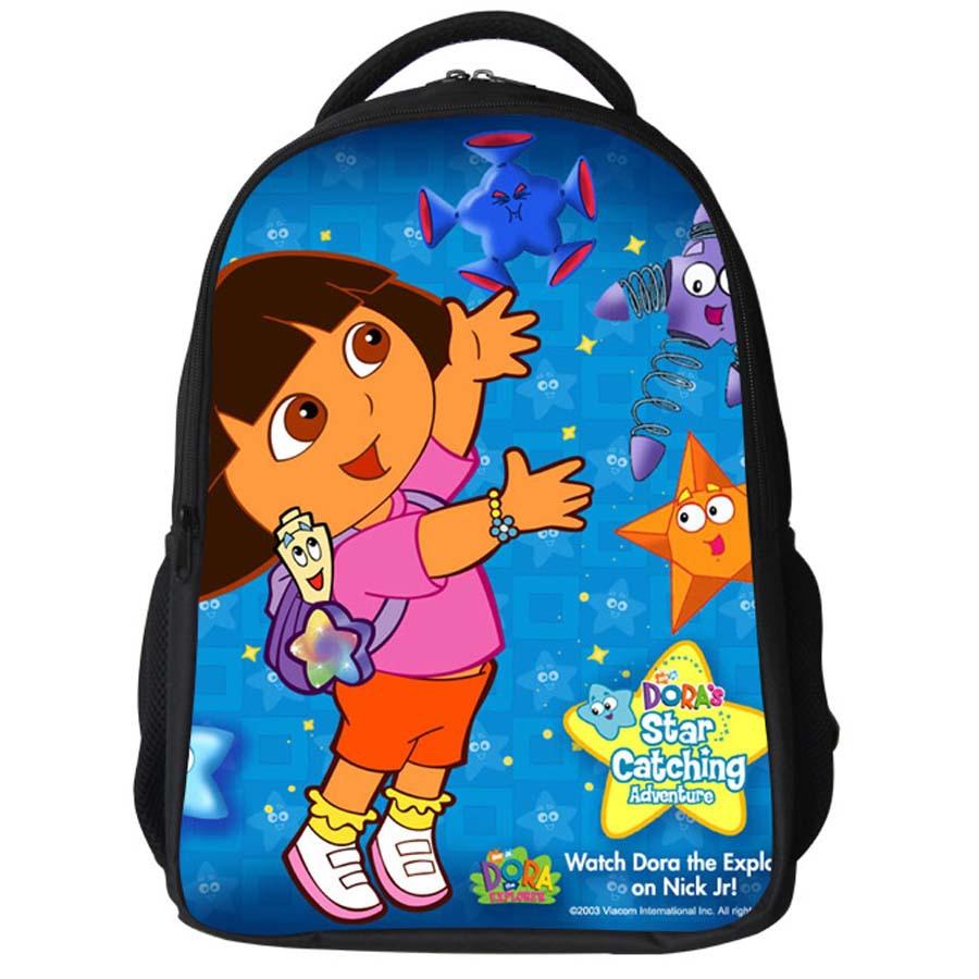 Portfolio School Backpacks Dora Menina Bolsas Time Adventure for Teens 3D Print Parrot 2 Zippers Bag with Bottle Pockets bags(China (Mainland))