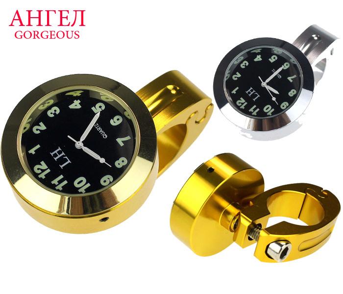 Hot Sell Motorcycle Accessory Handlebar Mount Clock Watch Universal Waterproof Motorcycle Bike Handlebar Thermometer Clock Watch(China (Mainland))