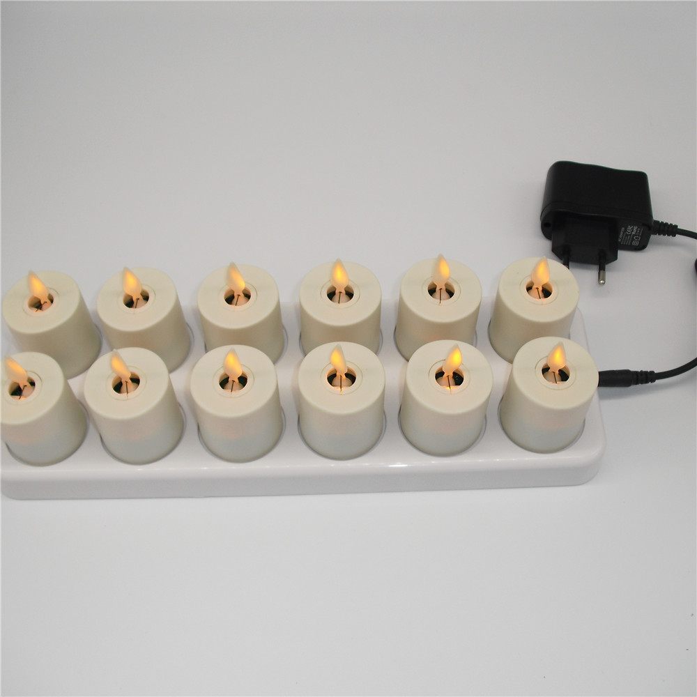 flameless white wax led tea light candles with remote control and. Black Bedroom Furniture Sets. Home Design Ideas