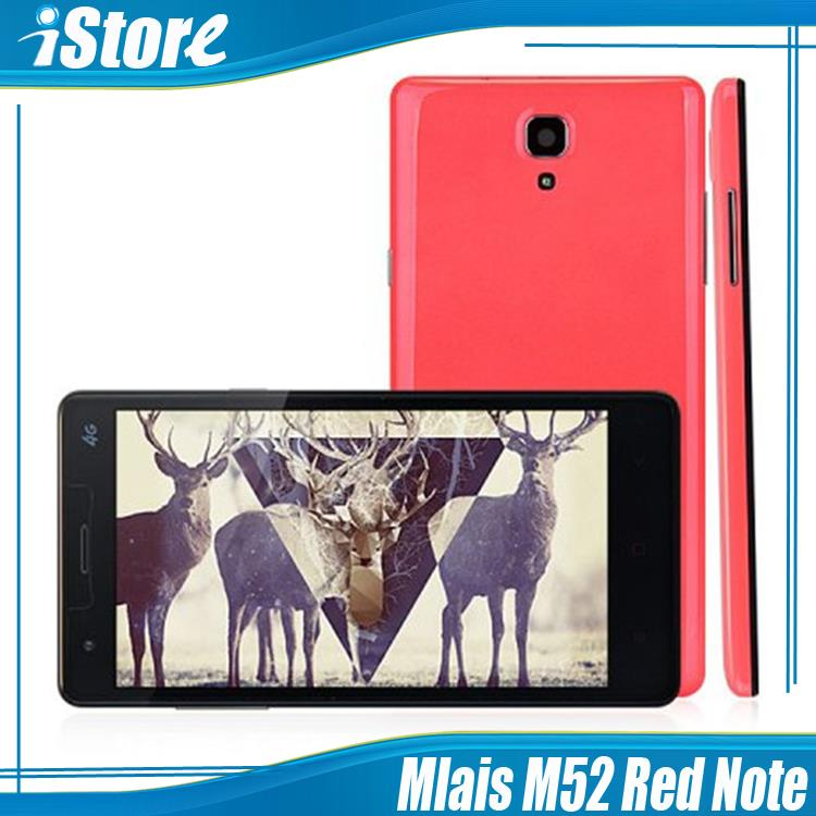 "Original Mlais M52 Red Note 4G FDD LTE Octa Core MTK6752  5.5"" IPS Android Cell Phone 2GB RAM 16GB ROM 13MP Camera Free Shipping(China (Mainland))"