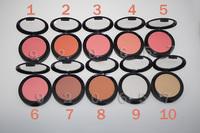 10PC Powder Blusher Palette with Mirror NEW Bronzing Powder Face Blush Brush brand makeup blush 9g Brand Cosmetics Free Shipping