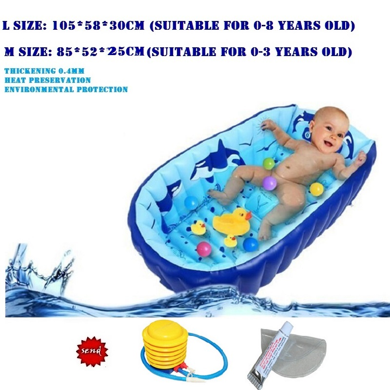 options Portable Inflatable Tub 0-3 Year Kids Thickening Bath Tub Children Wash bowl Folding Baby Tub Baby Swimming Pool(China (Mainland))