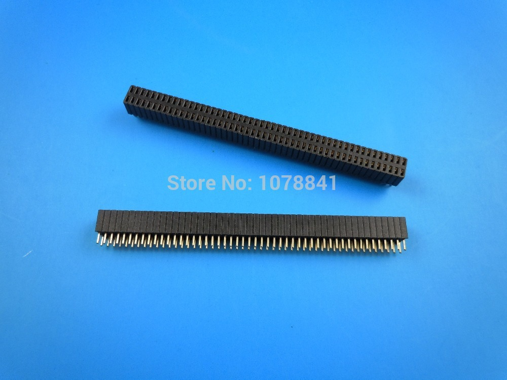 100 Pcs Per Lot 1.27mm 2x50 Pin Double Row Straight Female Header Strip<br><br>Aliexpress
