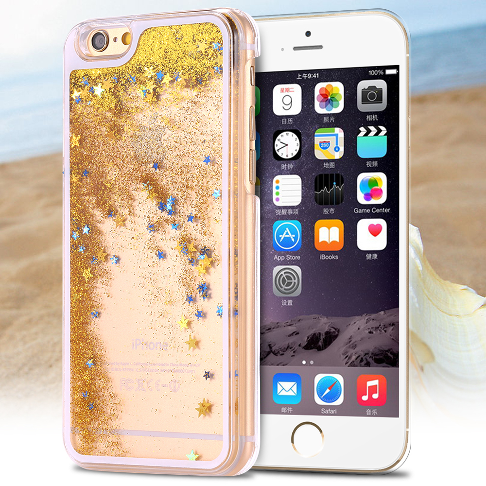 "Sale 2.99$ Ultra Thin High Quality PC Transparent Case For Iphone 6 Plus 5.5"" Hard Back Clear Cover With Oil Liquaid Shinny Star(China (Mainland))"