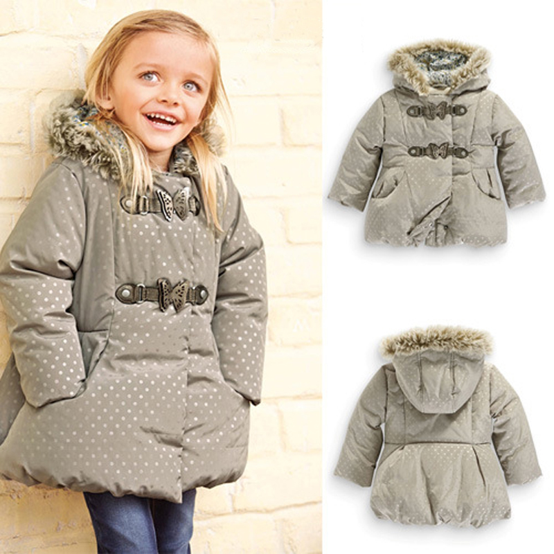 2015 Kids Winter Coat Girls Cotton Girls Winter Jacket Next Girls Down Jacket Hooded Winter Coat Winter Jacket for Girl CCWC09(China (Mainland))