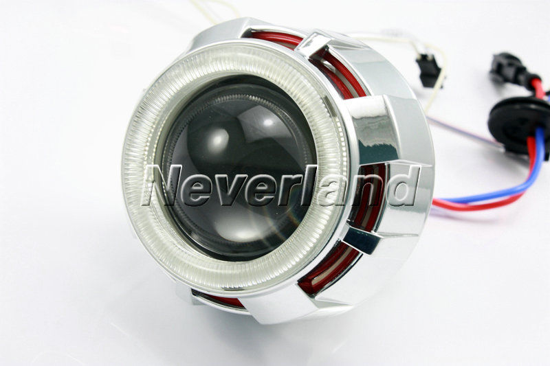 HID Bi-Xenon 2.5 Motorcycle Projector Lens Kit H1 H4 H7 Blue Angel Eye Red Devil Eye lighting headlight  #94 C20 Free ship<br><br>Aliexpress