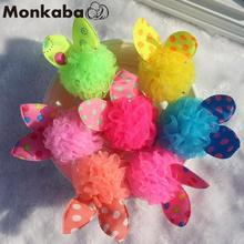 TS 6pcs kids artificial flowers baby girl hair accessories headband flower crown hot candy color elastic hair bands headdress