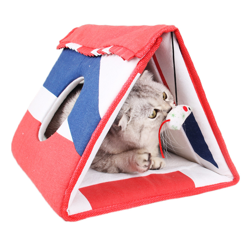 Multi-function Pet Tunnel Cat Play Tunnel Foldable Cat Bed Mat Cats Toy Bed And Furniture & Scratchers(China (Mainland))