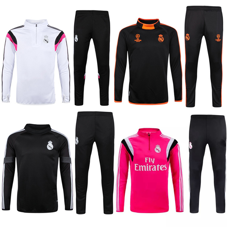 Real Madrid 2016 training suits chandal tracksuits Champions League Chelsea AC Milan Borussia Dortmund soccer jerseys(China (Mainland))
