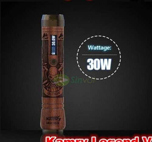 2шт/лот оригинальный мод легенда kamry V в переменное напряжение тока деревянные электронных сигарет Mecnanical мод 18650 батарея 7 Вт-30Вт свободный корабль