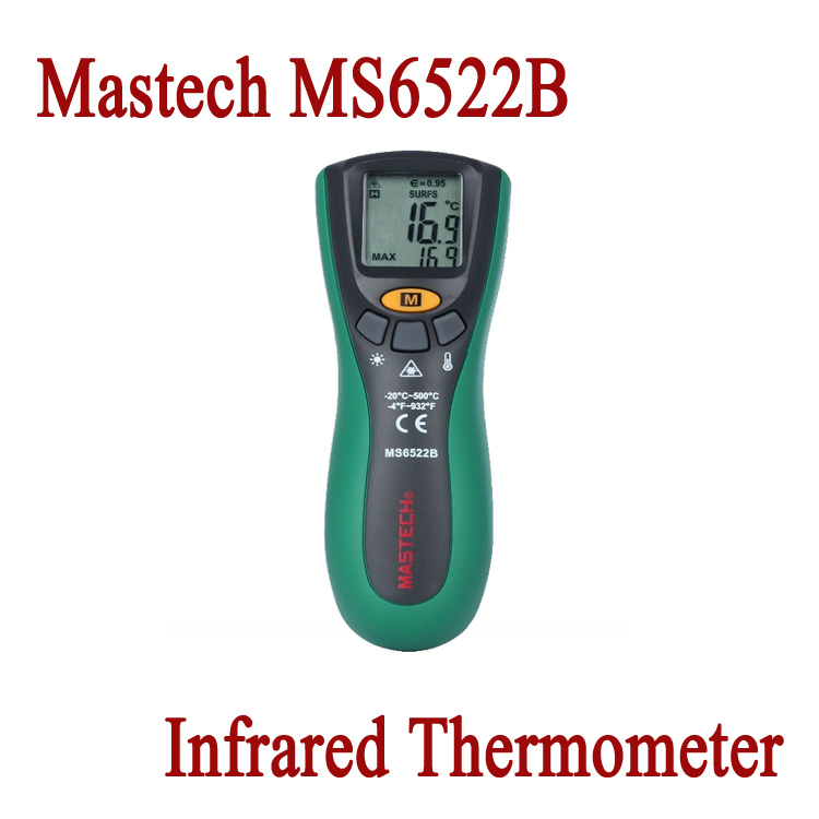 Free Shipping MASTECH MS6520B Non-contact Digital Laser Gun IR Infrared Thermometer 10:1(D:S) Termometer 100% Original <br><br>Aliexpress