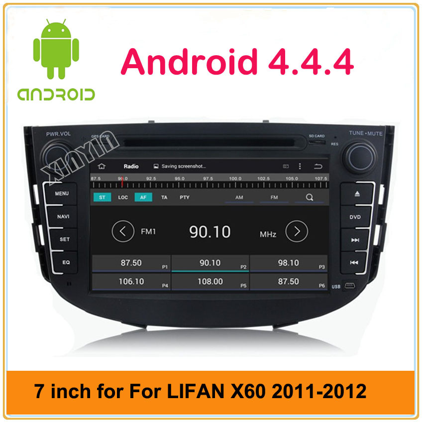 Android 4.4 Car DVD Player For LIFAN X60 2011-2012,Lifan SUV 2011-2012 With GPS Car Video radio built in 3G free map&card(China (Mainland))