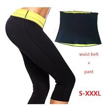 ( Pants + waist Belt ) New Sport Trainer ThermoShaper Top Hot Pants Shaper Slimming Neoprene Fat Burner