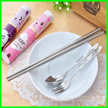 Set Ware Tableware Aparelho De Jantar Spoon Colher Ware Chopsticks Flatware Spoon Fork Conjunto Inox Talheres Dinner Ware Inox(China (Mainland))