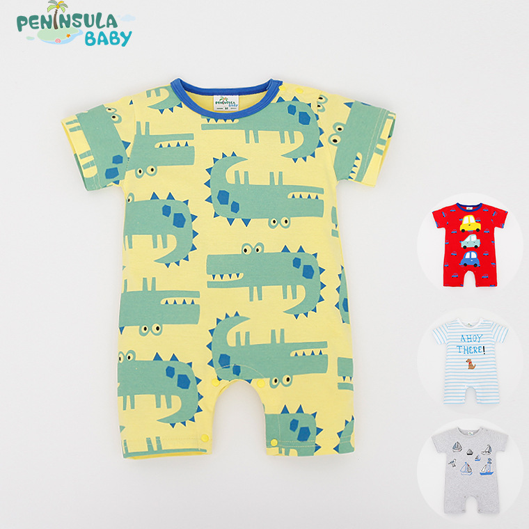 Baby Rompers Animal Cartoon Cotton Baby Wear Summer Short-Sleeved Infant Jumpsuit Boy Girl Baby Clothing Newborn Bebe Bib Romper<br><br>Aliexpress