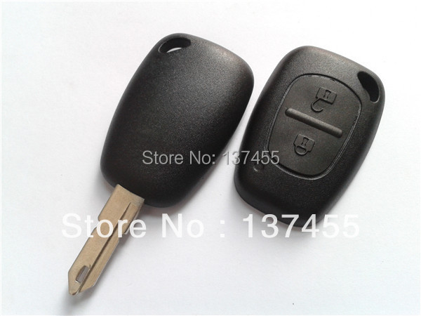 Key for renault clio 2 buttons remote key shell 206 blade renault smart card key blank(China (Mainland))