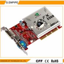 100%  NEW  256MB DDR 128Bit GF5500 AGP PC Graphics Card   Placa de Video carte graphique Video  Card for  Nvidia  S-Video