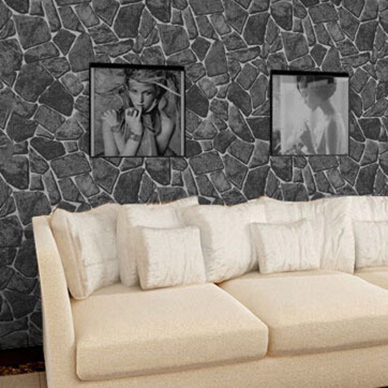 Wallpaper stone wall luxury Natural Rock Creek Slate effect vinyl roll vintage background wall wallpaper 3d papel de parede(China (Mainland))