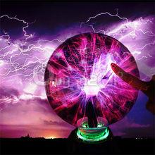 Magical Crystal Plasma Ball Electrostatic Sphere Lighting Lamp Party Falshing Lights Kids Xmas Brithday Gift 220V 3 4 5 6 8 Inch(China (Mainland))