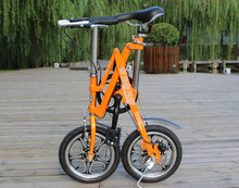 "Freeshipping by DHL/FEDEX/UPS  14"" inch mini folding bicycle/folding bike the special gift/ various color /portable bike"