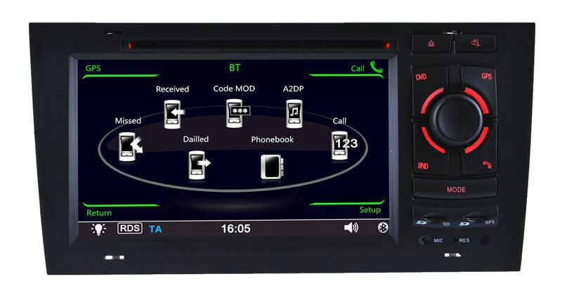 Special car dvd player for Audi A6 with GPS+IPOD+BT+DVD+RM/AM+RDS+SD+USB+RCA+AUX+CANBUS+8GB Map card Free Maps Free shipping(China (Mainland))