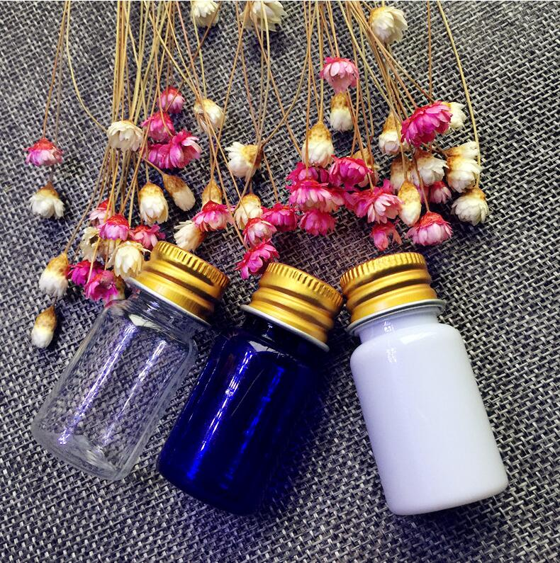 10ml Portable gold and aluminum Cap Bottles Small Makeup Toner Aromatherapy Lotion Bottle Scented Empty Cosmetic Containers 3pcs(China (Mainland))