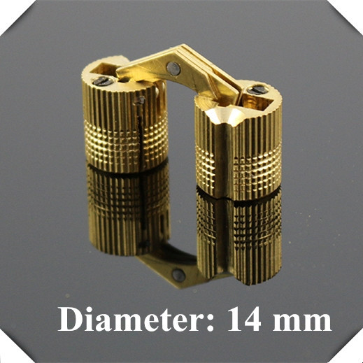 14mm Brass Invisible furniture hinge Hidden Hinges Barrel Hinge(China (Mainland))