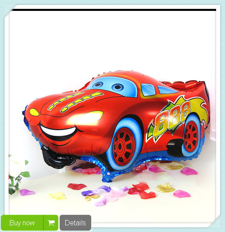 1PC Free Shipping Good Quality Red Color Car Foil Balloon&Helium Balloon Cartoon Car Balloons Wedding or Birthday Decoration Toy(China (Mainland))