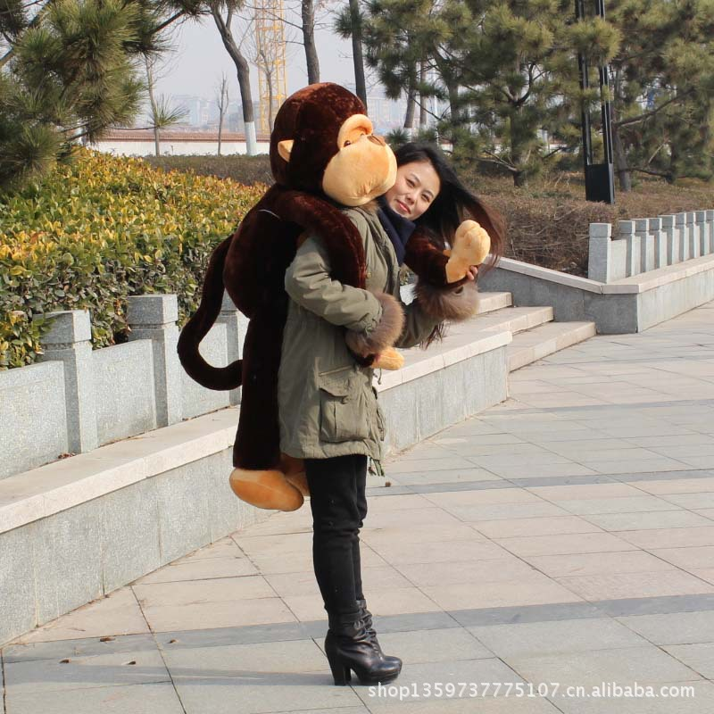 fillings toy large 110cm long arms brown monkey plush toy soft pillow birthday gift b4965(China (Mainland))
