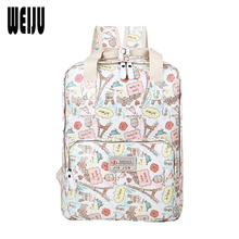 Buy WEIJU New Floral Print Women Backpack 2017 Brands Computer Backpacks School Bags Teenage Girls Mochila Escolar for $19.77 in AliExpress store