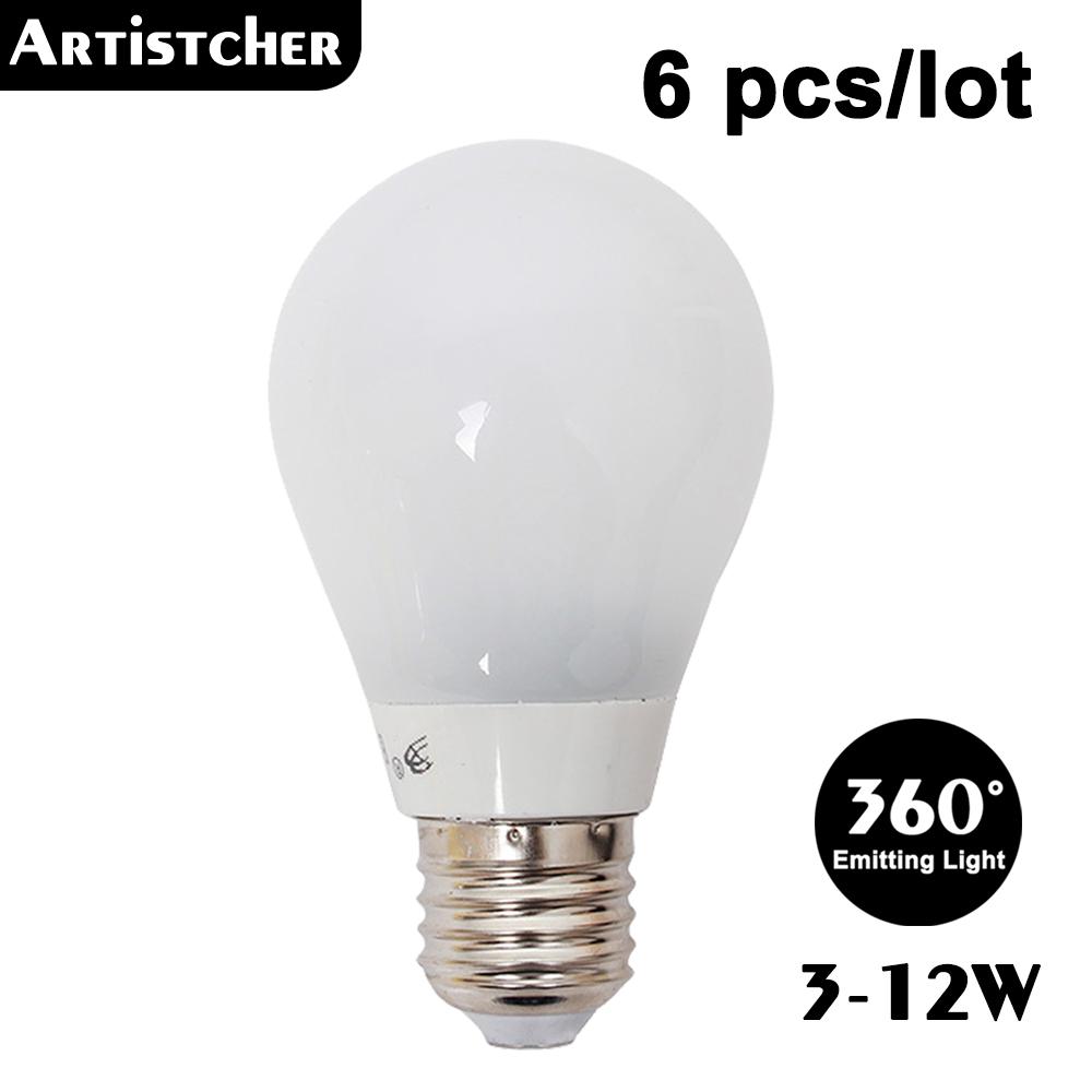 Led Lamp E27 220v 3w 4w 5w 7w 10w 12w Smd Led Bulb E27 360 Degree White Warm White Energy Saving