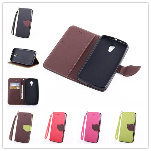 New Luxury Phone Cases Covers Flip Stand Leather Case Cover For 2014 Motorola New Bike Moto G 2 2nd Gen XT1063 XT1069 XT1068(China (Mainland))