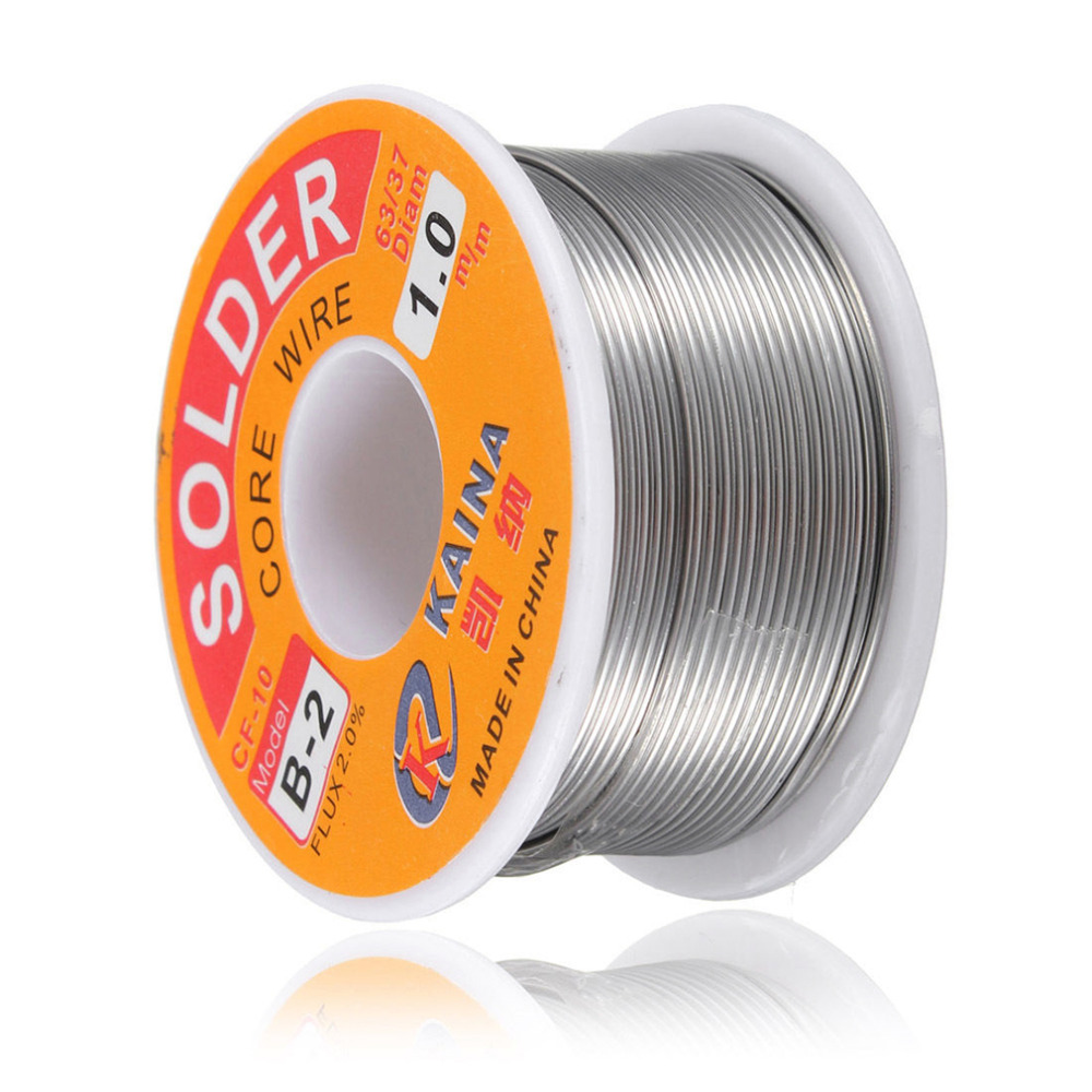 New Welding Iron Wire Reel 100g/3.5oz FLUX 2.0% 1mm 63/37 45FT Tin Lead Line Rosin Core Flux Solder Soldering Wholesale(China (Mainland))