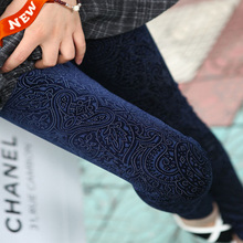 2015 spring New   Women Leggings Lace Crochet Casual Ladies leggins Cotton Embroidered Slim Pencil Pants  Long Trousers legging(China (Mainland))