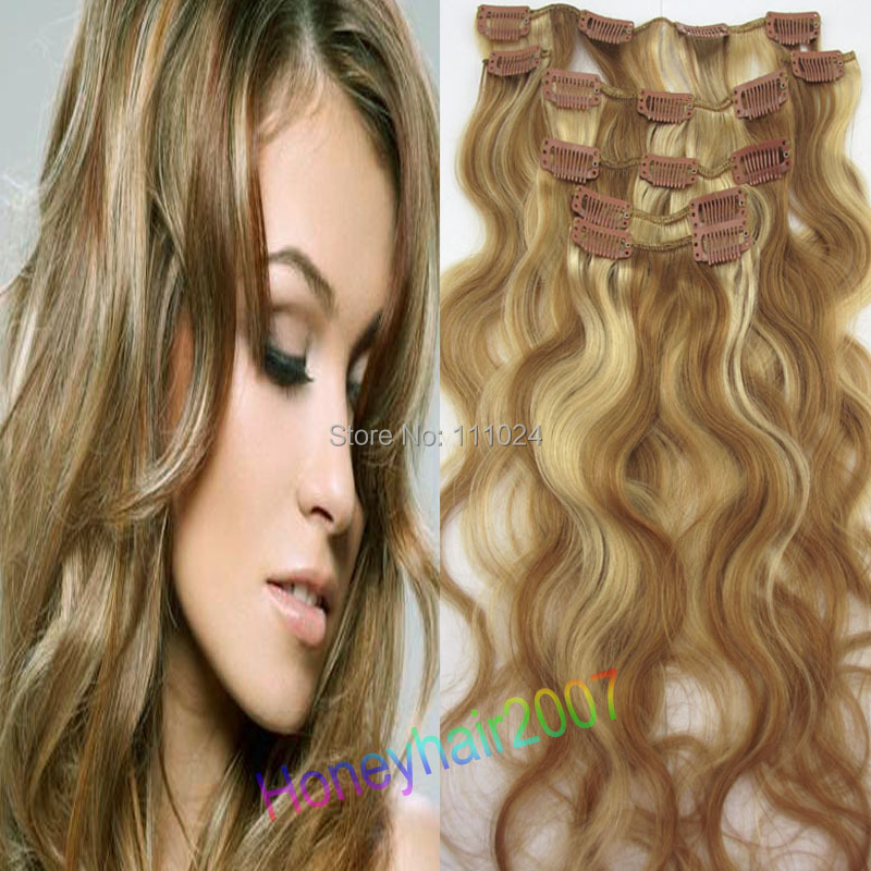 Body Wavy Hair Extensions Clip Natural Wave Chinese Human #12/613 - HairsBay store