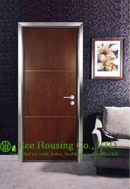 Modern Aluminium Hotel Doors for Interior Bedrooms Made In China, Aluminum Restaurant Door(China (Mainland))