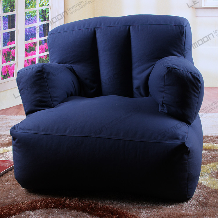 FREE SHIPPING blue bean bag seats bean bag cover only bean bag chair company 100% cotton canvas bean bag cover tutorial(China (Mainland))