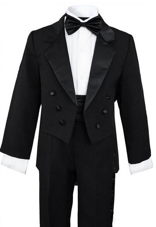 Black Tuxedo Kids Custom Made Smoking Casamento Evening ...