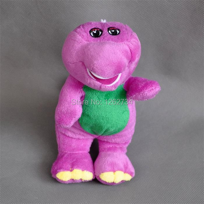 "Free Shipping Cute Barney Plush Doll Cartoon Characters 7""(China (Mainland))"