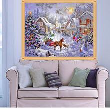 Buy 45*35cm DIY 5D Christmas Santa Dog Embroidery Painting Christmas Decorations Home Navidad Decoraciones Para El Hogar for $3.27 in AliExpress store
