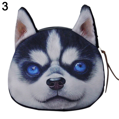 coin purses wallet ladies 3D printing dogs animal big face change fashion cute small zipper bag for women<br><br>Aliexpress