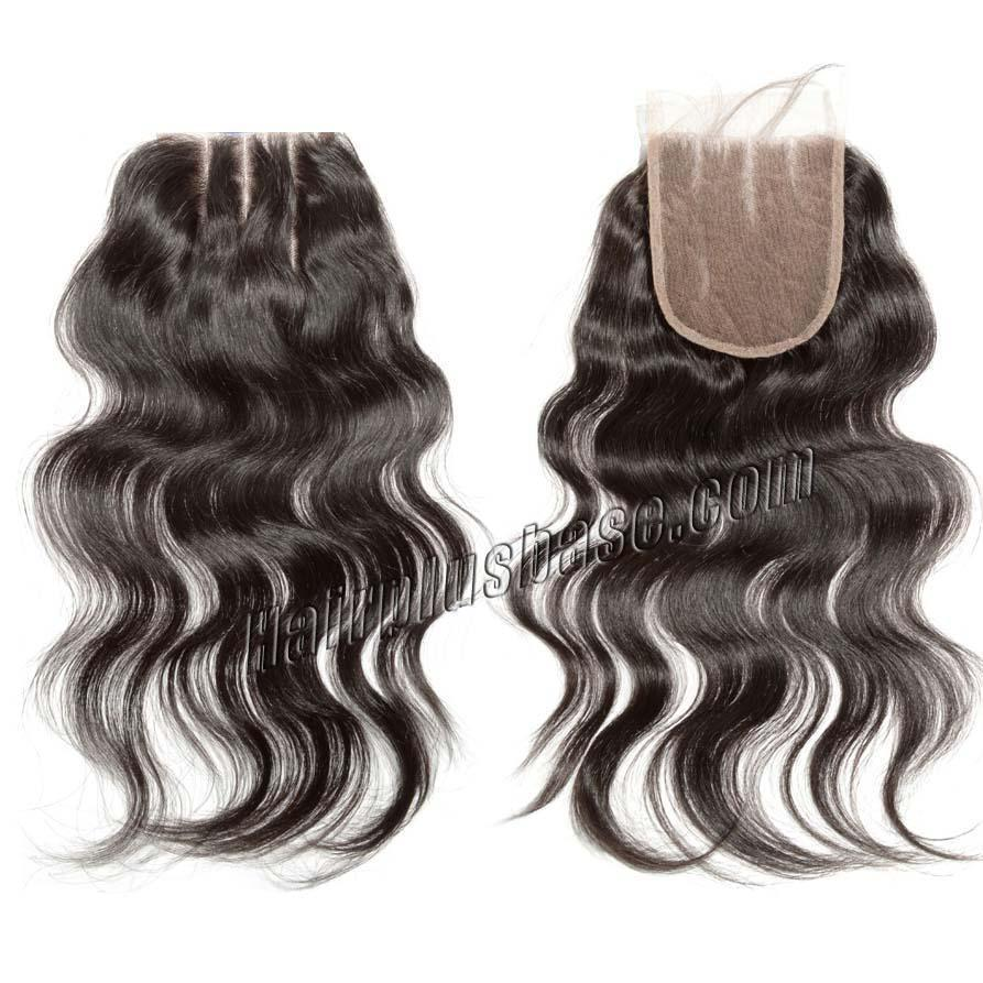 #1B Natural Black 120% Density 5x5 Three Parts Lace Closure Body Wave10-20 inch Full Swiss Lace Closure Cheap Wholesale(China (Mainland))