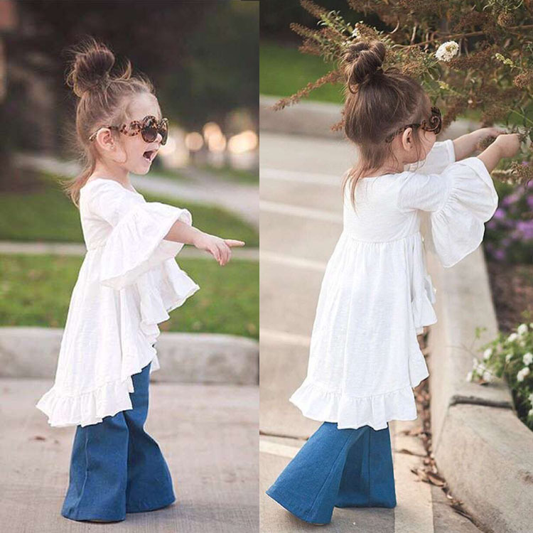 Hot sale retail ins children girls Vintage ruffles dresses baby girl clothes for spring and summer(China (Mainland))