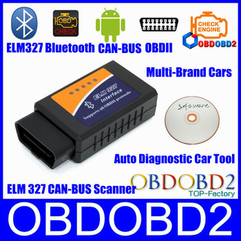 V1.5 Supports Android  Diagnostic Tool Bluetooth ELM327 CAN-BUS Scanner OBDII ELM 327 USB Interface ELM327 BT Free Shipping