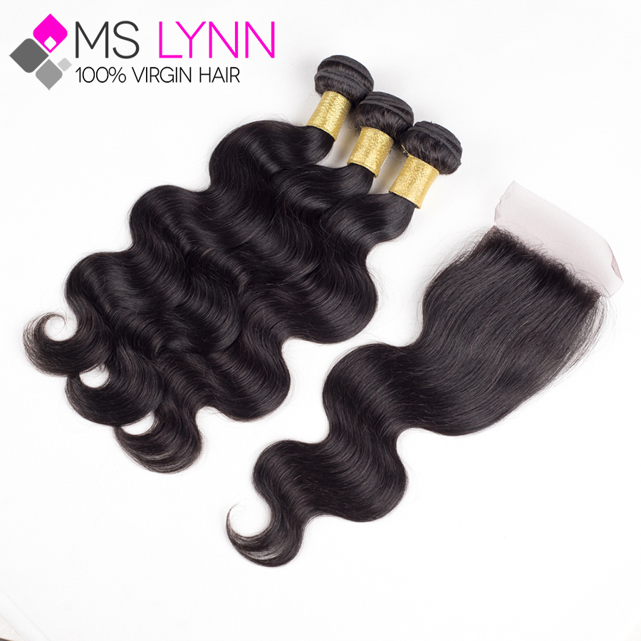6A Malaysian Body Wave 3 Bundles With Closure,Malaysian Virgin Hair With Closure Bundle 8