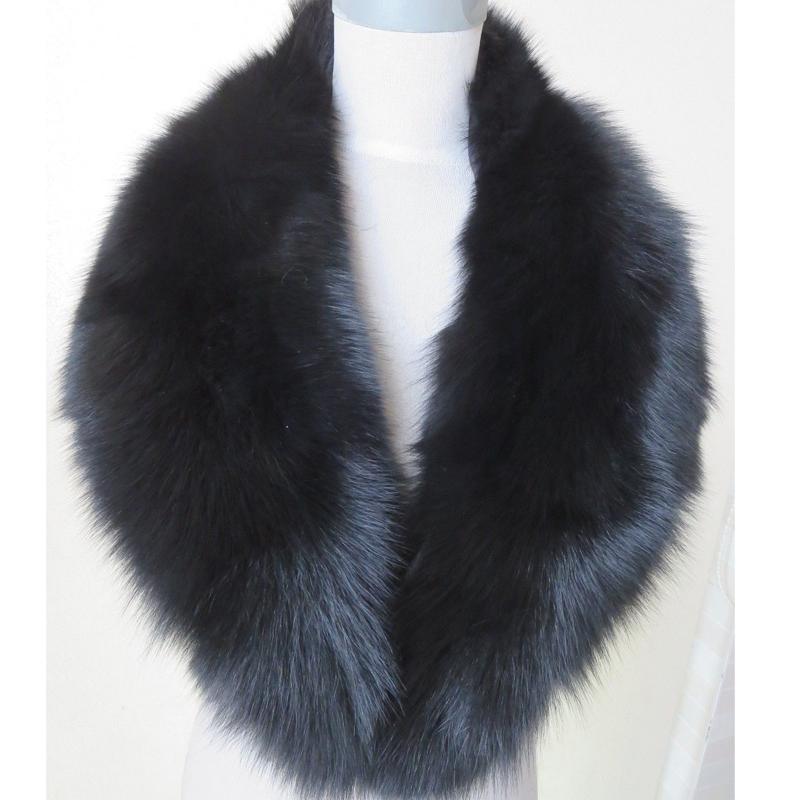 Free shipping /real handmade fox fur collar /scarf /black 100cm*16.5cm LZ064Одежда и ак�е��уары<br><br><br>Aliexpress