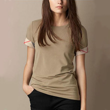 New Luxury Designer Women's Cotton T-Shirts Famous Brand Ladies Fashion Summer Tee Shirts Casual Classic T Shirt Cheap Clothes(China (Mainland))