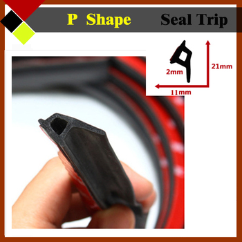 "P-Shape Auto Exterior Door Rubber Seal Trim Noise Proofing Strip Durable Weatherstrip Waterproof 240"" 600cm Quality Warrant !"