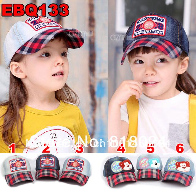Вышивка медведь дети бейсбол кепка / шляпа дети мальчики девочки животное деним винтажный кепка на открытом воздухе шляпа